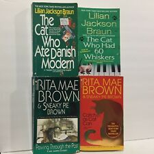 4 PC Lot Sneaky Pie Brown and the Cat Who Mystery Rita Mae Brown 178 Free Ship