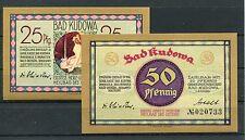 Bad kudowa 25 + 50 peniques Notgeld serie compl. (I)