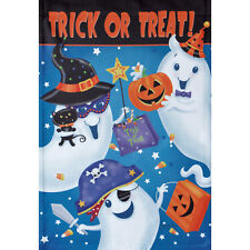 "TRICK OR TREAT PARTY 12.5"" X 18"" GARDEN FLAG 27-2685-111 FLIP IT! RAIN OR SHINE"