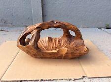 Hand Carved Solid Wooden Fruit Bowl