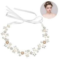 Handmade Crystal Wedding Headpiece Hair Vine Bridal Hair Accessorie Floral Leaf