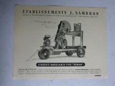 "catalogue prospectus Ets j SAMBRON : cidrerie ambulante type "" senior """