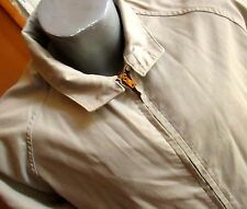 Large True Vtg 70s Sir Jac Ivy Leage Prep Brass Zipper Sandy Windbreaker jacket