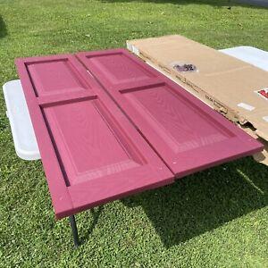 "custom vinyl shutter (078 wineberry) colonial raised panel size 16.5""x56.5"""
