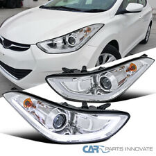 For Hyundai 11-13 Elantra 4Dr Sedan Clear LED Strip Projector Headlights Lamps