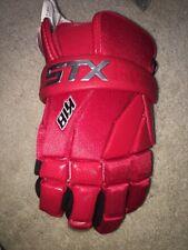 "Stx Lacrosse 10"" K-18 Lacrosse Glove, Red, Medium"