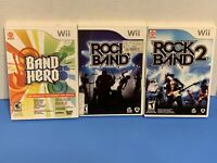 Rock Band Wii Games Lot of 3