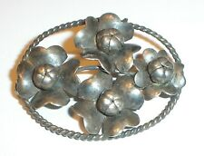 Hand Made Sterling Silver Floral Brooch Pin (925) Vintage - Beauty!