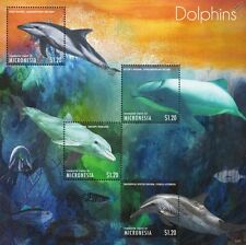 DOLPHINS (Dusky/Bottlenose/Hector's) Marine Life Stamp Sheet (2013 Micronesia)
