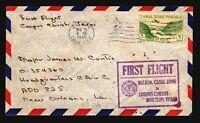 Canal Zone 1948 FFC to Houston - Z17554