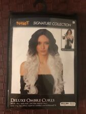 Black and White Ombré Halloween Wig for women