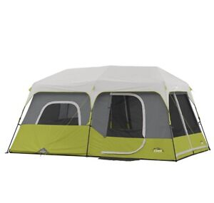 9 Person 3 Room Instant Cabin Tent Corr Outdoor Camping & Private Room 14x9