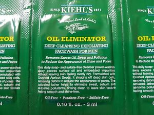 Brand New KIEHL'S OIL ELIMINATOR deep cleansing exfoliating face wash for men