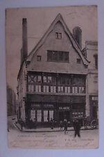 CPA ANCIENNE CAMBRAI MAISON ESPAGNOLE ESTAMINET DENIMAL BOULANGERIE 1904