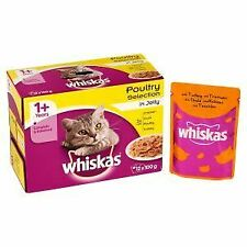 Whiskas 1+ Cat Pouch Poultry Selection in Jelly (12Pk) - 19269