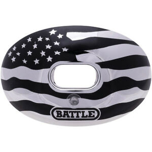 Battle Sports Science Chrome American Flag Lip Protector Mouthguard