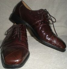 GIORGIO BRUTINI Private Collection Brown Leather Snake Print Dress Shoes