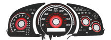 Type-R Red 2003-07 Honda Accord Automatic Glow Gauges Face Overlay 160Mph