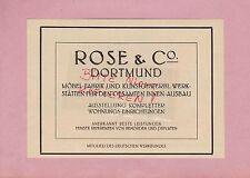 DORTMUND, Werbung 1914, Rose & Co. Möbel-Fabrik Kunstgewerbl. Werkstätten