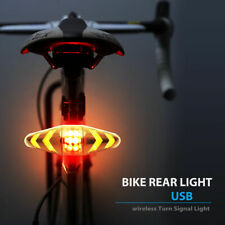 Bicycle USB LED Indicator Bike Rear Tail Turn Signal Light Wireless Remote