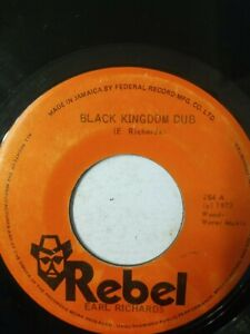 "Earl Richards - Black Kingdom Dub - 7"" Vinyl Single 1973"