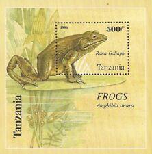 Tanzania - 1996 Frogs on Stamps - Stamp Souvenir Sheet - Scott #1460