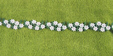 LOT Yard Pink White Daisy Chain Lace Flower Chain Embroidered Art Deco Trim Edge