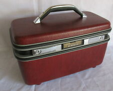 Vintage Samsonite Silhouette Cosmetic Makeup Case with Key Excellent Condition