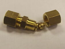 Unequal Brass Compression Connectors Fuel Air Water, Metric Reducing Union