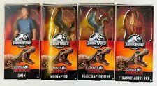 """Jurassic World Dino Rivals  - Owen, T-Rex, Indoraptor and Velociraptor Blue 6"""""""
