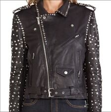maison scotch/all saints womens leather jacket