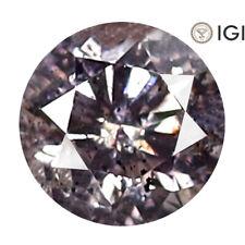 0.22 ct IGI Certified Round Cut (4 x 4 mm) I2 Fancy Pinkish Brown Diamond