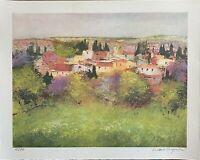 Luciano PASQUINI   litografia a colori Estate 50x40 firmata numerata  su 70 ex