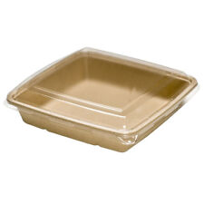Sabert TerraPac Molded Fiber Pulp Sustainable Deep Square Food Container