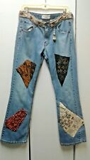 upcycled bohemian patchwork Levi denim jeans - size 10