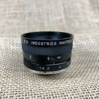 D.O. Industries Navitron 25 mm F1.4 C-mount Industrial Lens Used- Good