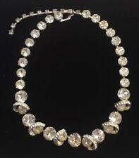 Vintage Mid Century Eisenberg Original Crystal Rhinestone Choker Necklace Runway