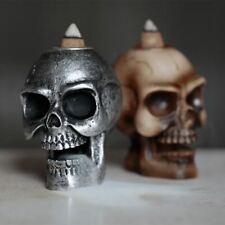 Small Backflow Incense Cone Burner - Skull Halloween Ornament Home Scent