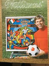 WORLD CUP BY WILLIAMS PROMO BROCHURE BIFOLD-4 PAGES 1978. MINT STORED IN PLASTIC