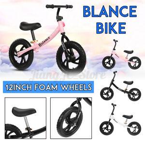 Kids Toddler Balance Bike Push 12'' Wheels Beginner Ride on Bicycle Training Toy