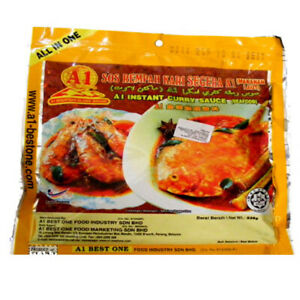 A1 Instant Curry Sauce Seafood Malaysian Curry Sauce Spices X 2 Pcs