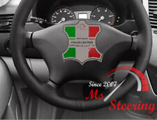 FOR MERCEDES W639 VITO 2 LEATHER STEERING WHEEL COVER BLACK DOUBLE STITCH 03-14