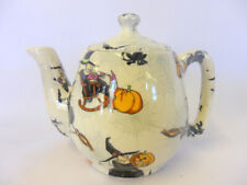 Witches design 1 cup teapot by Heron Cross Pottery