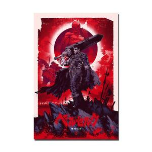 Berserk Guts Classic Japan Anime Poster Painting Canvas Silk Print Wall Art
