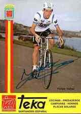 FELIPE YANEZ Team TEKA 83 Signed Autographe cycling Signé cyclisme autografo