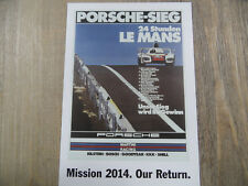 PORSCHE Postkarte Mission 2014 Our Return Nr. 8 SR318