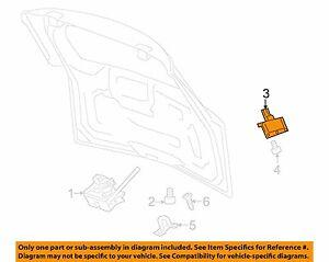 Suzuki XL-7 Liftgate Tailgate Hatch Trunk Release Switch Handle 2007 2008 2009