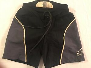 Fox Brief Lined Padded Cycling Board Style Shorts Sz Medium Black/Gray TS9