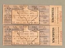 RARE Lot of 2 Vintage 1983 MEN WITHOUT HATS Full Tickets UNTORN Houston Texas