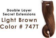 Daisy Fuentes Double Layer Secret Extensions Hair Light Brown Color 747T 6101100